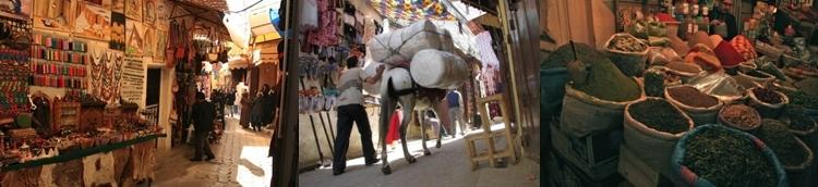 Souk, marchés, marchand d'épices à Fès