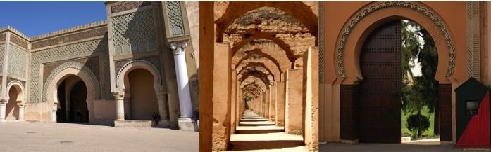 Bab Manssour, vieux grenier à blé, Porte donnant sur le golfe