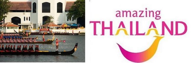Le 12 décembre cérémonie des barges à Bangkok. @ O.T. Thaïlande - Logo