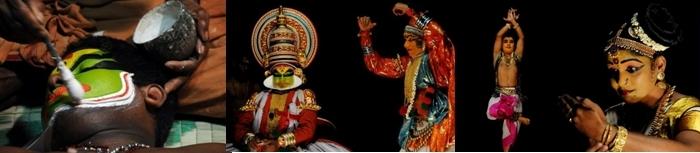 Artistes du Kerala Kathakali (photos Slenglart)