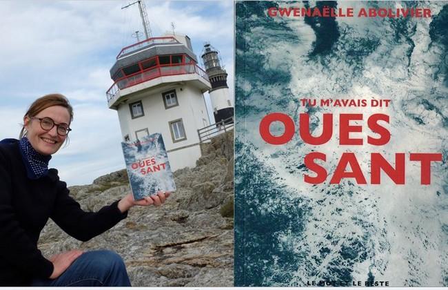 Gwenaëlle Abolivier présente son livre Ouessant. @ DR