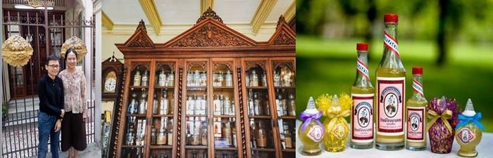 De gauche à droite : Les charmantes pharmaciennes de Baan Mowaan @ F.S et  Nangloy Parfums et senteurs  @ DR