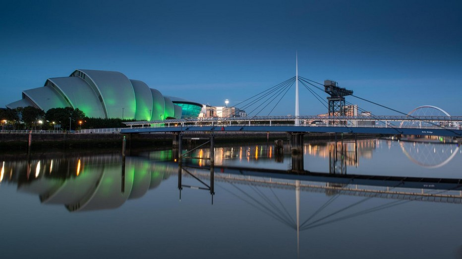 L'ex quartier industriel des docks avec la rivière Clyde à Glasgow a été entièrement réhabilité et accueille désormais des bâtiments et des musées de premier plan. Crédit phot D.R.