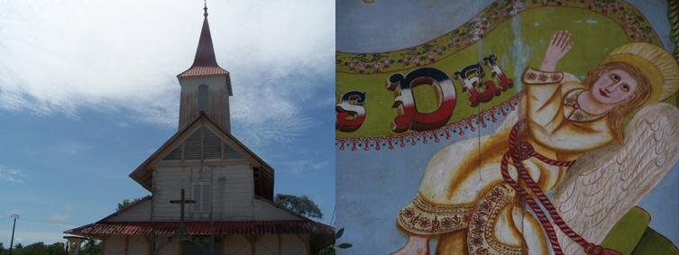 Eglise d'Iracoubo,  peintures de  Huguet