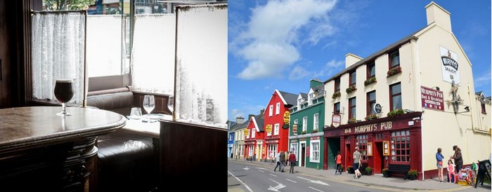 Les pubs aux façades multicolores de Dingle. Crédit photo David Raynal et DR