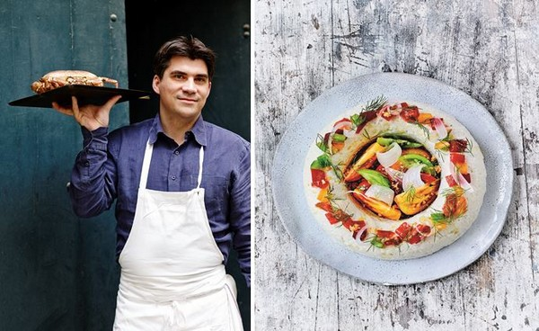 Le Chef Gaël Orieux dans son restaurant Auguste à Paris. @ DR