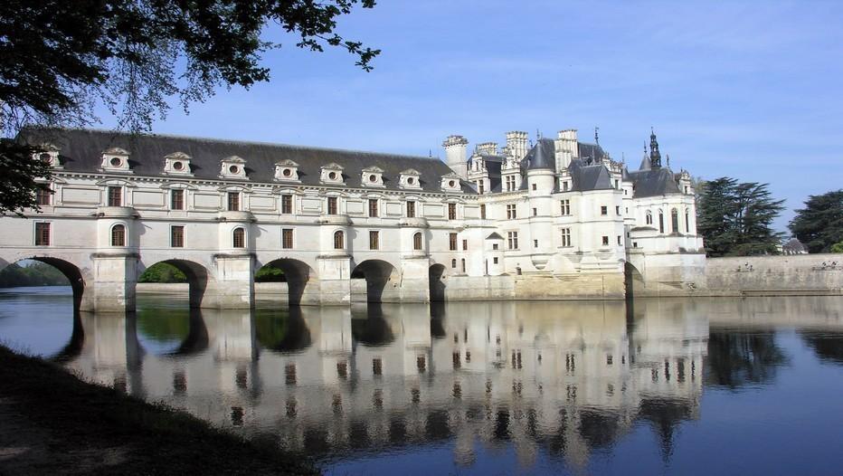 Château de Chenonceau en Indre et loire (France) le plus visité après Versailles