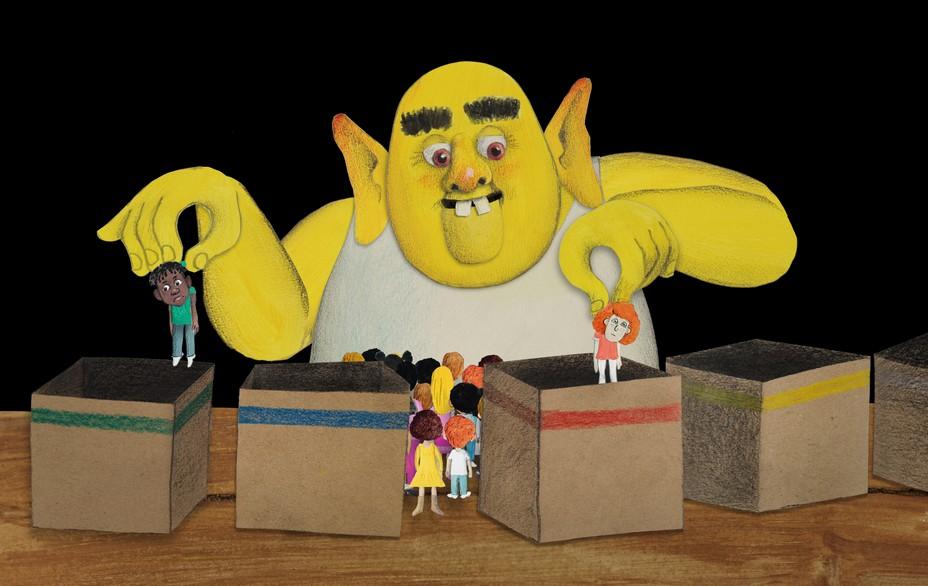 Film Peut on ranger les gens dans des boites ? Crédits  E.Chaillou & M.Thé...