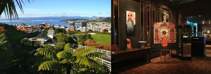 1 - Wellington, entre baies et collines. 2 - Face au Musée Te Papa, le Museum Hotel a misé sur l'art de la gastronomie.