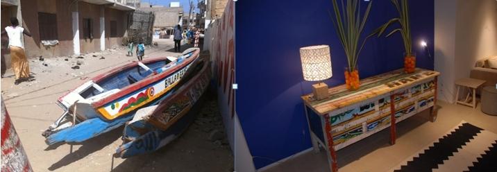 Comme chaque barque est différente,chaque meuble est unique