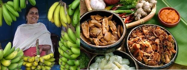 Vendeuse de bananes, mets traditionnels de Maurice