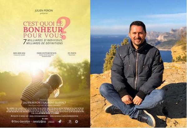 """Julien Peron réalisateur du film """"C'est quoi le bonheur pour vous ? @ DR et Wikipedia"""