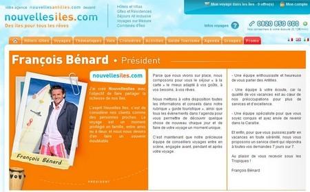 """Edito de François Bénard sur son site """"nouvellesiles.com"""""""