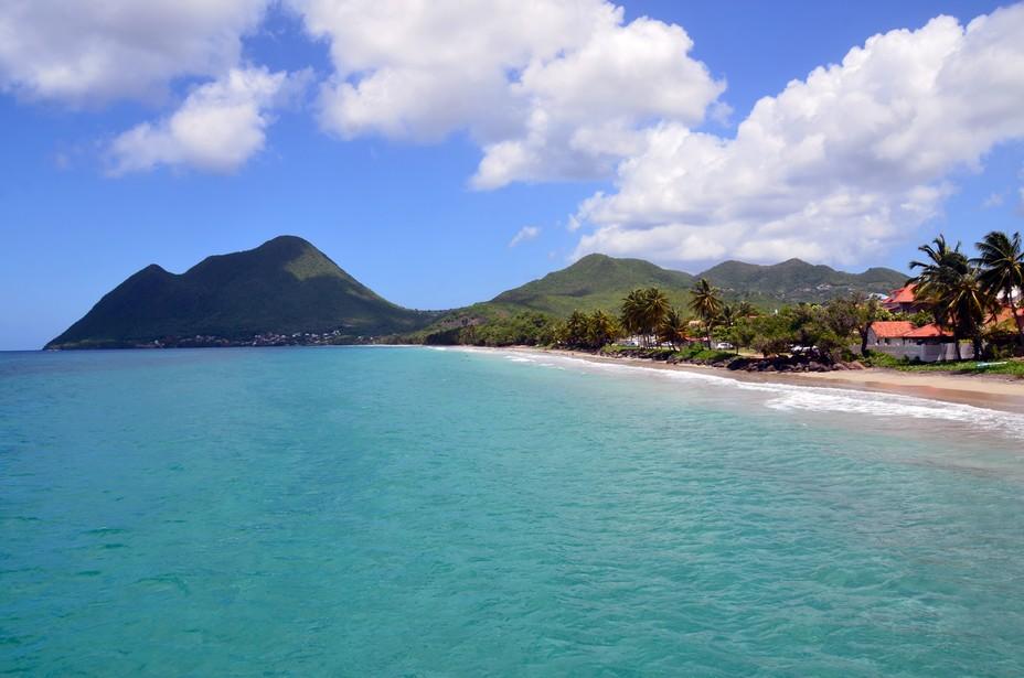 La commune et la plage du Diamant sur l'île de la Martinique - @ David Raynal