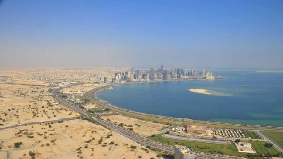 Vue aérienne de Doha (Qatar) Copyright Office Tourisme Qatar