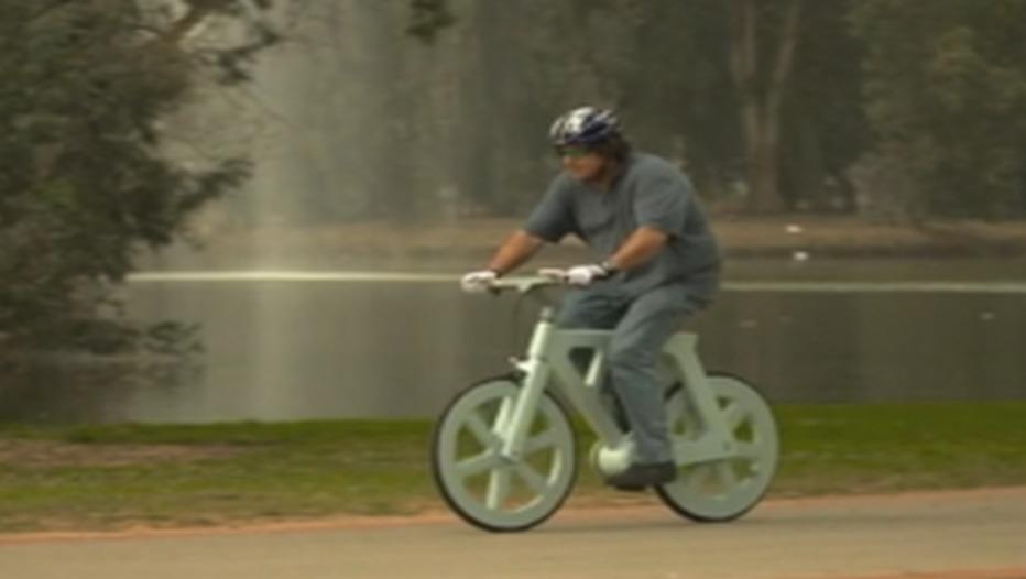 vélo en carton