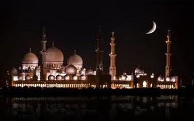 La Mosquée de Cristal la nuit