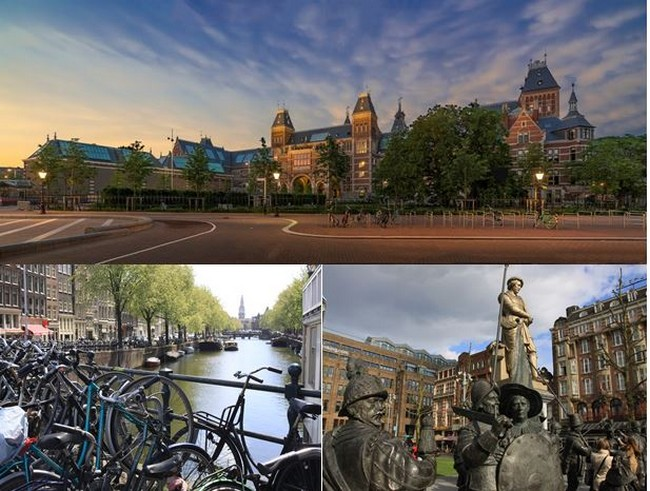 Vues du le Rijksmuseum et de la ville d'Amsterdam@ OT Amsterdam, David Raynal.