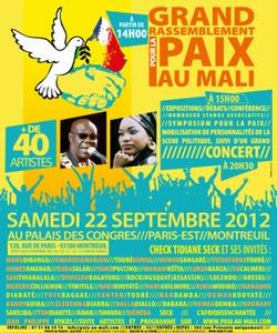 Palais des Congrès à Montreuil : Un  concert de soutien en faveur de la paix au Mali