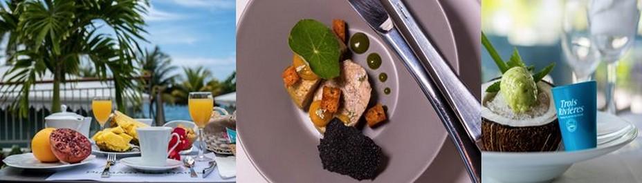 L'Hôtel Diamant Les Bains présente une cuisine créole « bistronomique » raffinée conçue à partir de produits frais issus des circuits courts.@ D.R.
