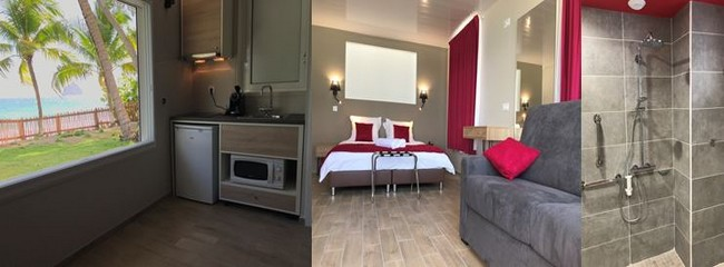 Certaines chambres disposent d'une kitchenette. Les suites sont entièrement équipées et ont une terrasse privative de plus de 9m2.. @ D.R.