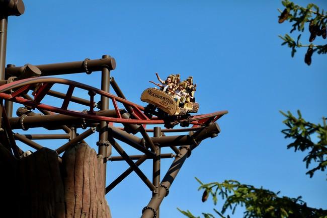 Tout comme le Golden Driller, le Timber Trop ou montagnes russes fait le bonheur des adolescents et des adultes. ©Fraispertuis
