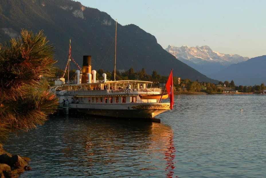 Riviera vaudoise. Le Suisse, bateau à vapeur de la flotte Belle Epoque @ DR