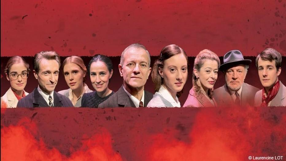 la distribution au complet  de la pièce Anne Frank au Théâtre de la Rive-Gauche à Paris (Copyright Lot)