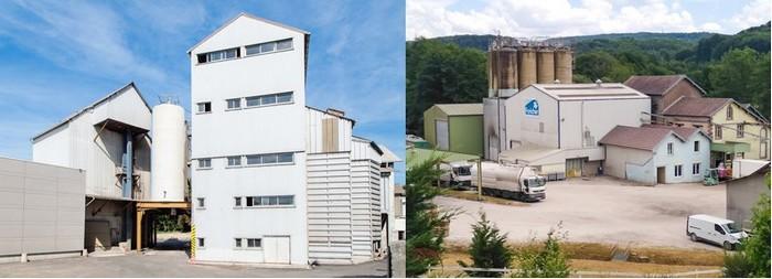 De gauche à droite : La société Foricher se compose de deux dépôts et de trois moulins dont ceux de Fougerolles-le-Château et d'Arnouville où se trouve le siège social. ©Farines Foricher