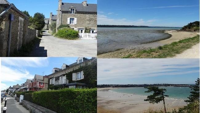 En haut de gauche à droite petit village de st jacut de la mer  et sa plage. @ F.Surcouf et en bas de gauche à droite village de Saint-Cast et sa plage. @ F.Surcouf