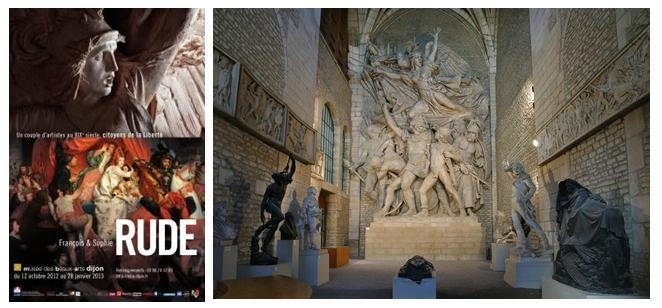 """Affiche de l'exposition du couple RUDE, """"La Marseillaise """" relief de François Rude  (Photos  Musée des Beaux Arts de Dijon)"""