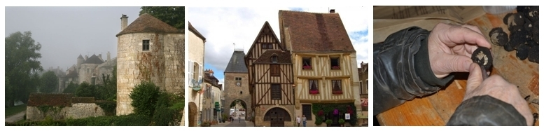 Fortifications au village médiévale de Noyers, La Maison Jaune, l'or noir (photos site de la ville)