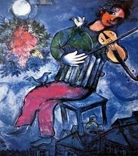 Le violoniste sur le toit peinture de Marc Chagall (1887-1985)