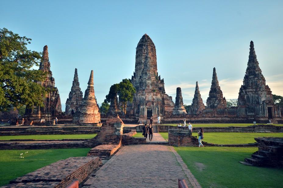 Fondée vers 1350, Ayutthaya devint la deuxième capitale siamoise après Sukhothaï. Elle fut détruite par les Birmans au XVIIIe siècle. @ David Raynal