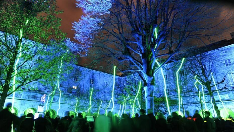 Fête de la Lumière à Lyon, Colline de la Fourvière (photo  site offficiel de la ville)