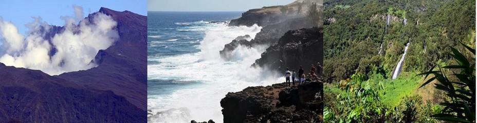 Entre mer et montagne, décors lunaires et verdoyants, le dépaysement est garanti pour les visiteurs de l'île. @David Raynal