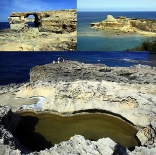Gozo est le paradis des plongeurs. Vue sur la fenêtre Azur de Dwejra et son arche naturelle et minérale. (Crédit photos David Raynal).