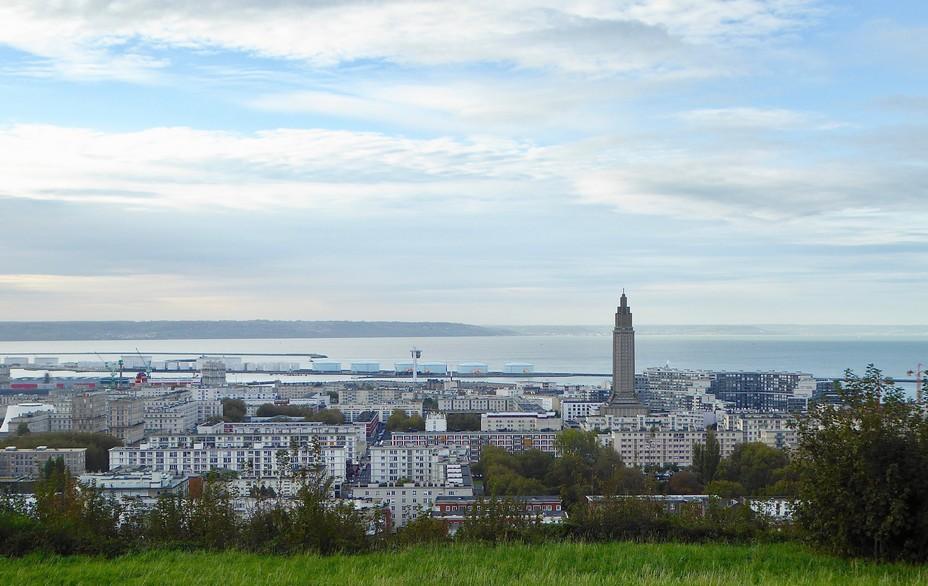Le Havre vu des quartiers hauts @ C.Gary