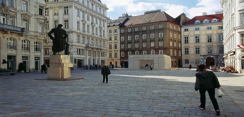 La Judenplatz, ancien coeur de la vie juive viennoise (photo André Degon)