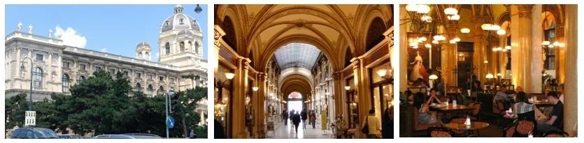 1/Palais Ferstel (photo polir.bogspot.com) à l'intérieur du Palais se trouve le passage Freyung et le célèbre Café Central (Photos André Degon)