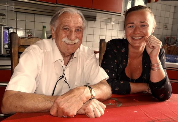 La pétillante cheffe vosgienne Lorraine Pierrat ne tarit pas d'éloges sur le chef Jean-Claude Aiguier. ©Bertrand Munier
