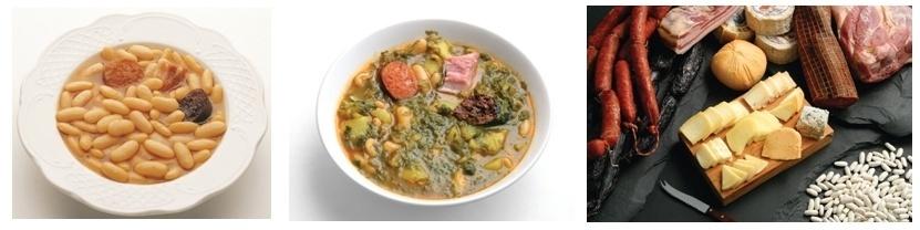 Plat le Fabada, ragoût de haricots, spécialités locales (Photos Catherine Gary et Infoasturias)