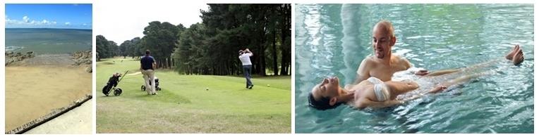 Côte de Jade, Terrain de golf, cure contre la fibromyalgie
