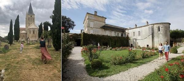 De gauche à droite :  le Château de Panloy et une belle demeure à Saintes. @ OT Saintes