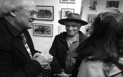 Pierre Josse et Philippe Salaün lors de l'inauguration de l'exposition Mali d'hier (Photo Yann Menguy)