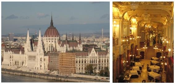 1/Parlement de Budapest/2/ Salle du restaurant le New-York Palace à Budapest (Photos Catherine Gary)