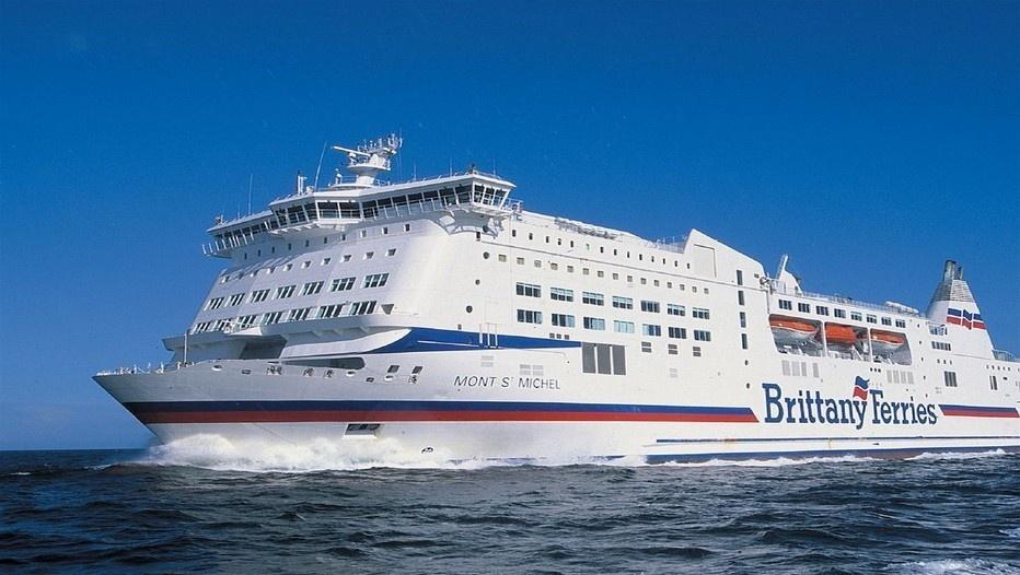 """Le navire """"Le Mont-St-Michel"""" de la Compagnie Britttany Ferries"""
