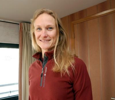 Christin Songe Moller, l'unique femme de la Transat est Norvégienne. Crédit photo : David Raynal