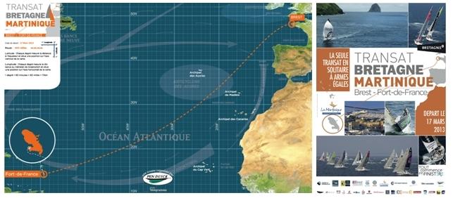 Trajet de la course Bretagne-Martinique 2/Affiche de la course