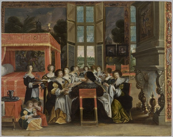 Femmes à table en l'absence de leur mari. XVIIè siècle RMN-Grand Palais_Mathieu Rabeau